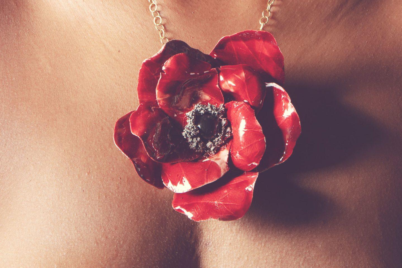 FLOWER lussomediterraneo gioielli in ceramica taglio 3