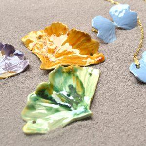 foglia di ginkgo lusso mediterraneo jewels